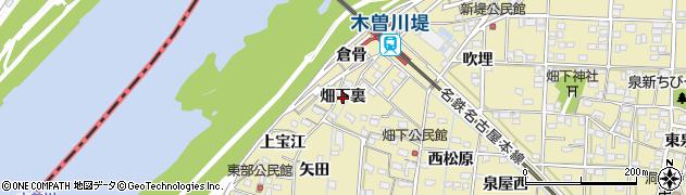 愛知県一宮市北方町北方(畑下裏)周辺の地図