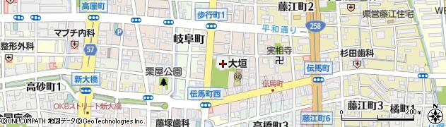 東本願寺大垣別院周辺の地図