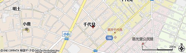 愛知県江南市小杁町(千代見)周辺の地図