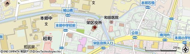 神奈川県横浜市栄区周辺の地図