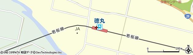 鳥取県八頭郡八頭町周辺の地図