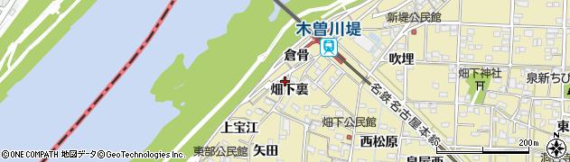 愛知県一宮市北方町北方(倉骨)周辺の地図