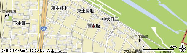 愛知県一宮市北方町北方(西土取)周辺の地図