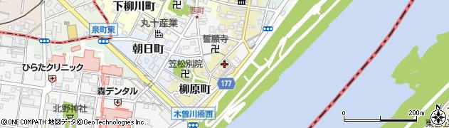 岐阜県羽島郡笠松町柳原町34周辺の地図