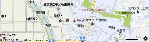 愛知県犬山市前原(西沢)周辺の地図