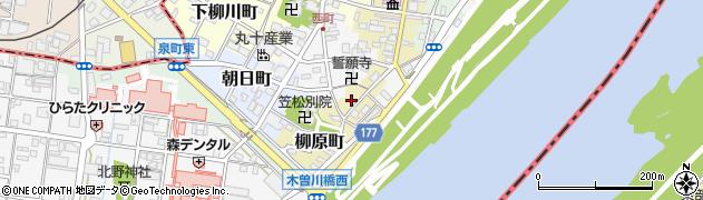 岐阜県羽島郡笠松町柳原町12周辺の地図