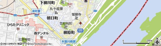 岐阜県羽島郡笠松町柳原町36周辺の地図
