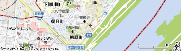 岐阜県羽島郡笠松町柳原町39周辺の地図