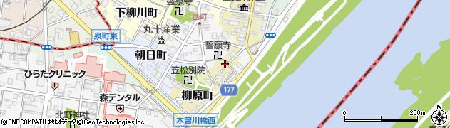 岐阜県羽島郡笠松町柳原町周辺の地図
