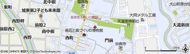 愛知県犬山市前原周辺の地図