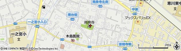 南泉寺周辺の地図