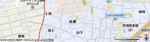 愛知県犬山市五郎丸(堤北)周辺の地図