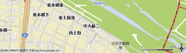 愛知県一宮市北方町北方(中大日二)周辺の地図