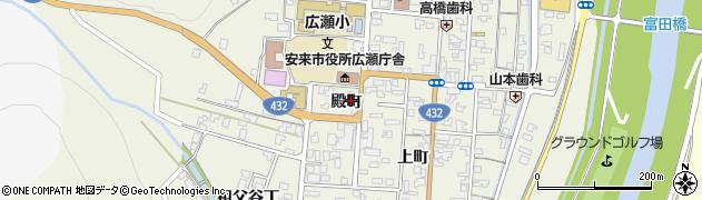 島根県安来市広瀬町広瀬(殿町)周辺の地図