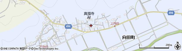 京都府綾部市向田町(上大門)周辺の地図