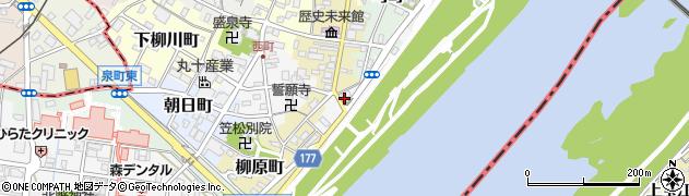 岐阜県羽島郡笠松町港町周辺の地図