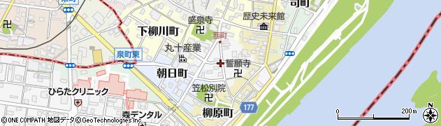 岐阜県羽島郡笠松町西町周辺の地図