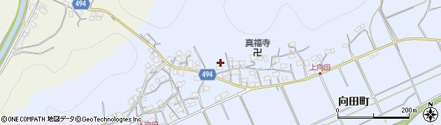 京都府綾部市向田町(貝谷)周辺の地図
