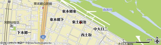 愛知県一宮市北方町北方(東土腐池)周辺の地図