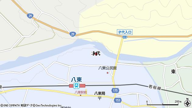 〒680-0531 鳥取県八頭郡八頭町才代の地図