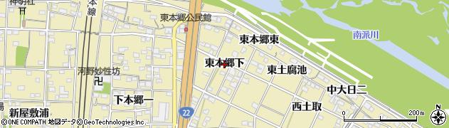 愛知県一宮市北方町北方(東本郷下)周辺の地図