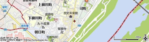 岐阜県羽島郡笠松町下本町周辺の地図