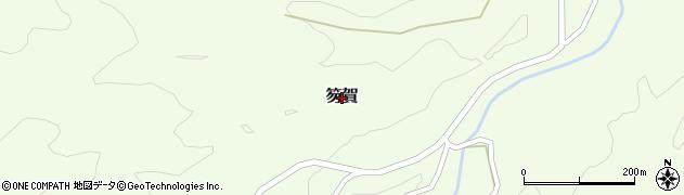 鳥取県三朝町(東伯郡)笏賀周辺の地図
