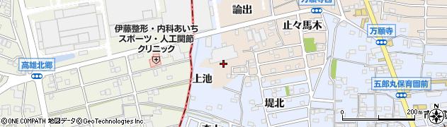 愛知県犬山市五郎丸(上池)周辺の地図