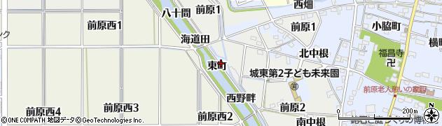 愛知県犬山市前原(東町)周辺の地図