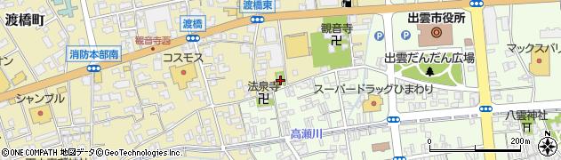 渡橋八幡宮周辺の地図