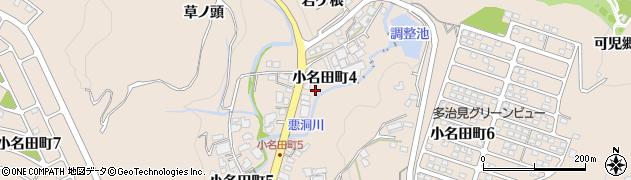 岐阜県多治見市小名田町周辺の地図