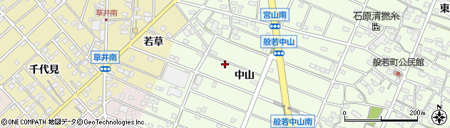 愛知県江南市般若町(中山)周辺の地図