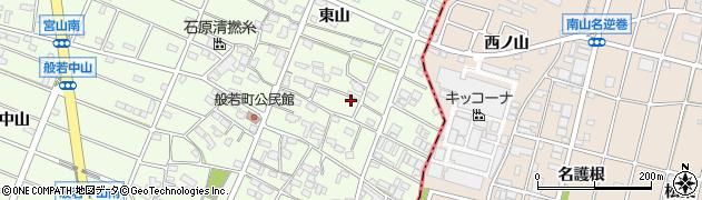 愛知県江南市般若町(東山)周辺の地図