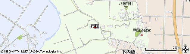 千葉県木更津市戸国周辺の地図
