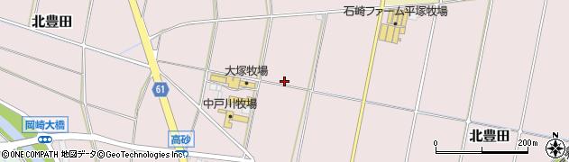 神奈川県平塚市北豊田周辺の地図