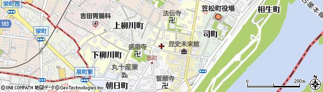 岐阜県羽島郡笠松町東宮町周辺の地図