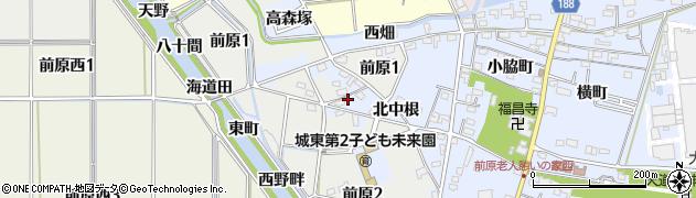 愛知県犬山市前原(北中根)周辺の地図