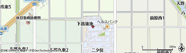 愛知県犬山市五郎丸(清水坪)周辺の地図