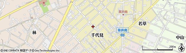 愛知県江南市草井町(千代見)周辺の地図