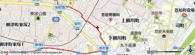 岐阜県羽島郡笠松町門前町周辺の地図