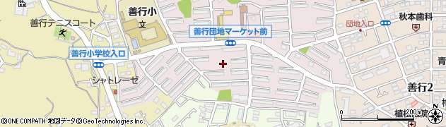 神奈川県藤沢市善行団地周辺の地図