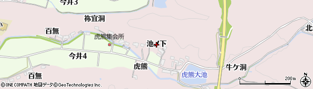 愛知県犬山市今井(池ノ下)周辺の地図