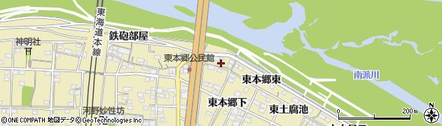 愛知県一宮市北方町北方(東本郷)周辺の地図