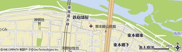 愛知県一宮市北方町北方(下本郷二)周辺の地図