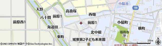 愛知県犬山市前原(西畑)周辺の地図