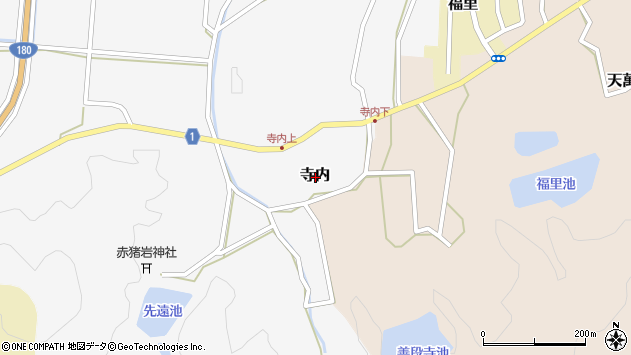 〒683-0202 鳥取県西伯郡南部町寺内の地図