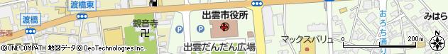 島根県出雲市周辺の地図
