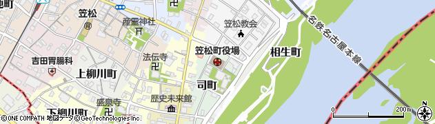 岐阜県羽島郡笠松町周辺の地図