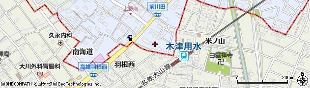 愛知県犬山市上野(南向)周辺の地図