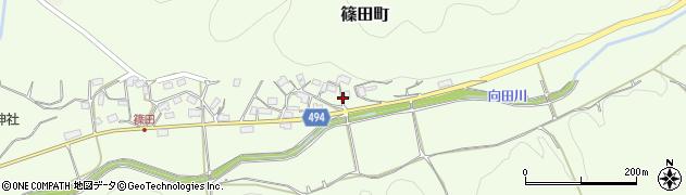京都府綾部市篠田町(クゴノシタ)周辺の地図